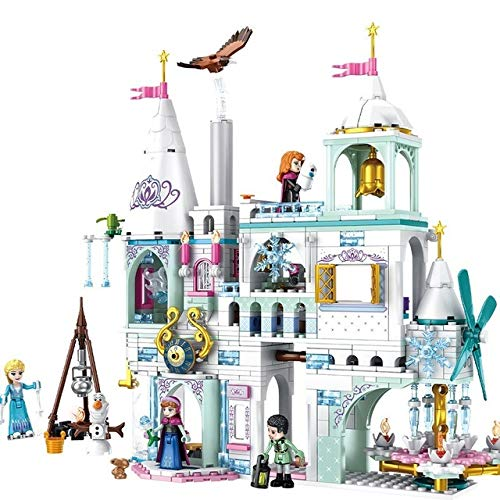 AEM Friends Series Magical Ice Castle Kit de Bloques de construcción para niñas Ladrillos Juguetes para niños Regalos, Rojo