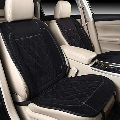 ZSQSC ZSQSC auto-zitkussen, verwarmd, 12 V, innovatief verwarmingskussen voor de winter, verwarming nog comfortabel