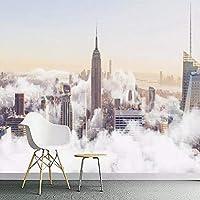 Empty ガーデン風景滝風景背景壁家の装飾リビングルームテレビ壁画壁紙ロール-350x250CM