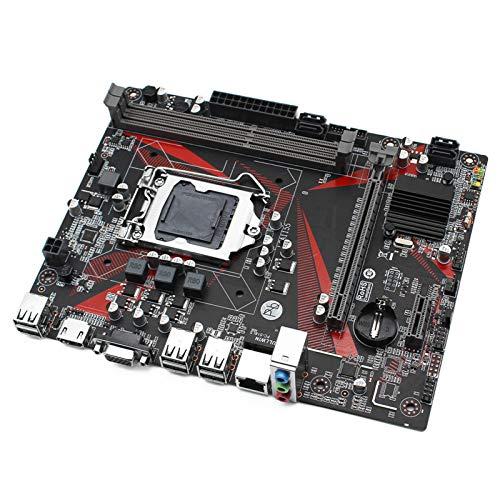 YANGLY Ajuste para JGINYUE H61 Desktop Motherboard LGA 1155 para Intel I3 I5 I7 Xeon E3 V2 1155 procesador DDR3 16G 1333/1600 MHz memoria VGA+HDMI H61M-H Mainboard teléfono celular reemplazo parte