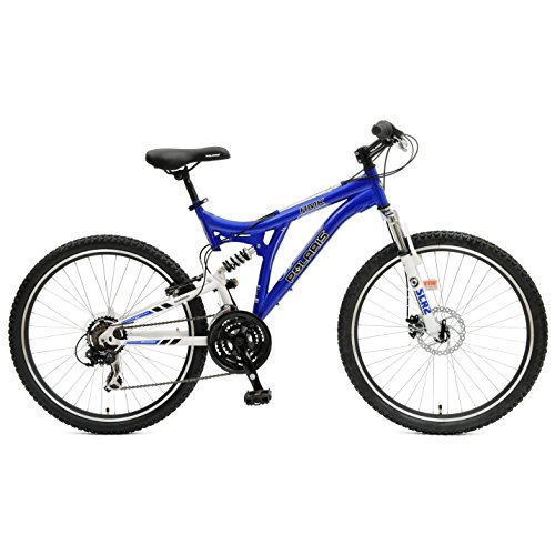 Polaris RMK Full Suspension Mountain Bike, 26 inch Wheels, 18.5 inch Frame, Men's Bike, Blue
