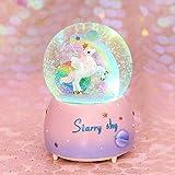 Cadeau D'halloween Licorne Boule De Cristal Couleur De Neige Lumière Huit-ton Boîte Cadeau Cadeau Cadeau Cadeau Cadeau Cadeau De Noel 8,5 x 8,5 x 12,5 cm poudre