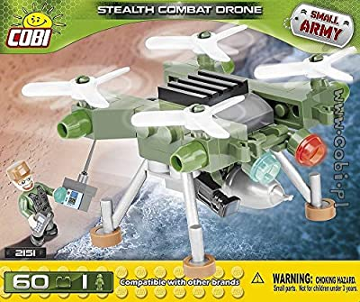 Cobi COB02151 Small Army - Stealth Combat Drone (60 Pcs) Toy, Various