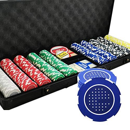 300pcs / 500pcs Beruf No Face Value Keramik Poker Chips Set mit Aluminiumgehäuse,500PCS