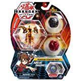Bakugan Starter Pack 3-Pack, Aurelus Dragonoid, Collectible Action Figures, for Ages 6 and Up, Multicolor