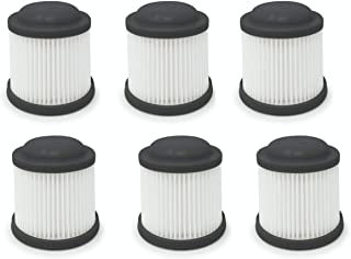 Fette Filter Cordless Vac Replacement Filter Compatible with Black & Decker. Compare to Part # PVF110 (Pack of 6)