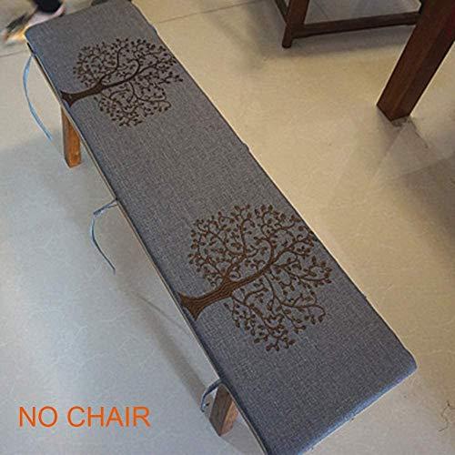 Rutschfestes Sitzkissen für 2–3 Sitzbank, abnehmbar, waschbar, für den Innen- und Außenbereich, Gartenmöbel und Küchenbank 100x30cm Grau-C