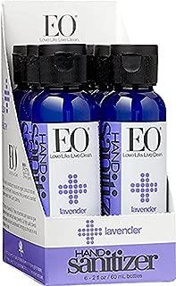 EO Botanical Hand Sanitizer Gel, Lavender, 2 Ounce (Pack of 6)