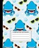 Composition Notebook: Wide Ruled, Lined Paper Journal, Shark Composition Notebook, Journal Diary for Elementary Primary and Secondary School. (Christmas/Birthday Gifts for Kids)