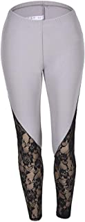 Yoga Pants Womens High Waist Lace Stitching Breathable XL Pockets are Convenient for Hypoallergenic Comfort and Strong Ela...