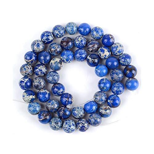 Cuentas de piedra natural de mar para hacer joyas 4 6 8 10 12 mm cuentas DIY pulsera collar