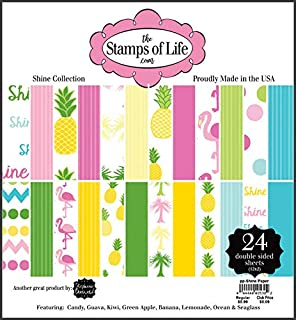 Shine Design Patterned Paper Pad for Card-Making and Scrapbooking by The Stamps of Life - 24 Sheets 6