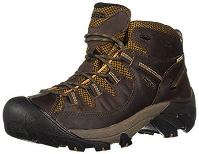 KEEN Men's Targhee II Mid Waterproof Hiking Boot, Gringo/Sudan Brown, 11.5 M US