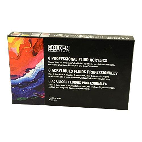 Preisvergleich Produktbild Goldene Flssigkeit Acryl 1 / 2 Unze Satz von 8