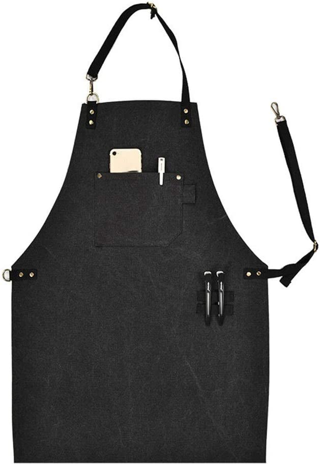 NeoMcc Max 52% OFF Canvas Work Aprons with Boston Mall Pockets Multi-Pocket Tool Durable
