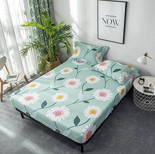 King Size Fitted Sheets,100% Cotton Student Apartment King Fitted Sheet, Hotels Sheets Non-Slip Mattress Cover Bed Cover Multicolor Optional Bedspreads-U_180x200cm+30cm