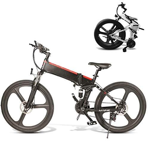 Ydshyth Bicicleta Eléctrica Plegable, Motor De 350 W, Batería De 48 V...