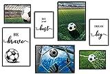 ANHUIB 7er Set Bunt Fußball Poster,Wandbilder für