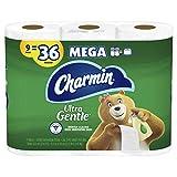 Charmin Ultra Gentle Toilet Paper, 36 Mega Rolls = 144 Regular Rolls (Packaging May Vary)