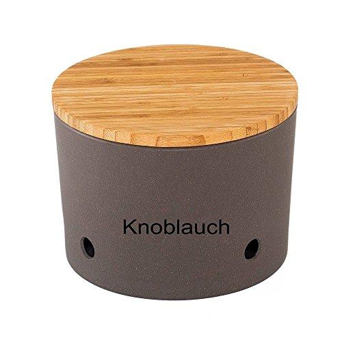 Magu Knoblauchtopf Schiefer grau schwarz H. 12cm D. 15,5cm Natur Design
