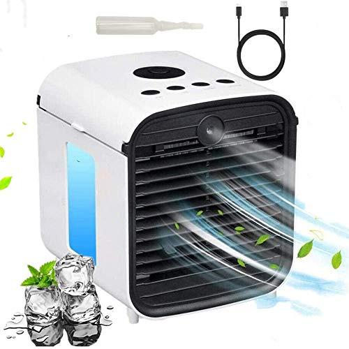 Mini Condizionatore Portatile - 3 in 1 Air Cooler Moving Desktop Cooling Fan, Con 3 Velocità Display Digitale a LED per Casa,Ufficio (C-Cushion)
