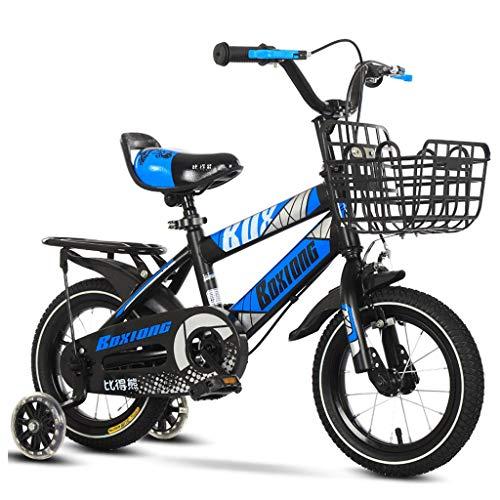 Bicicleta Infantil para niños, Bicicletas for niños pequeños marco de acero de la bici de los niños del muchacho de los niños unisex chica de bicicletas con frenos de las ruedas de entrenamiento for l