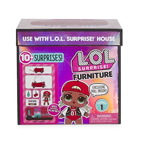 MGA- Meubles L.O.L Cozy Coupe avec poupée M.C. Swag et 10+ Surprises Toy, 564096E7C, Multicolore
