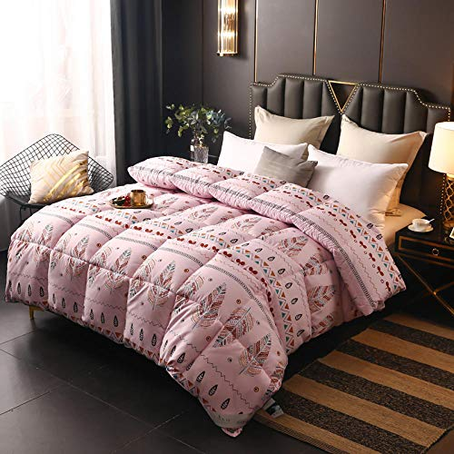 CHOU DAN Duvet Double Bed 10.5 Tog,Down Duvet 95 White Goose Down Winter Duvet Duvet Core Five-Star Autumn And Winter Single Double Thick Warm Quilt-180 * 220cm 4000g_bohemian Powder