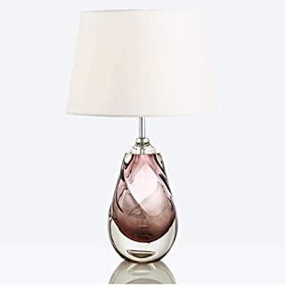WYBFZTT-188 Nordic Lampe de Table, tête Unique et Circulaire Tissu Abat, Convient for Chambre Salon