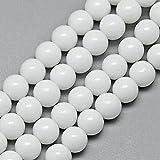 Perlin - Jade Perlen Halbedelstein 10/8/6/4 mm Opak Weißer