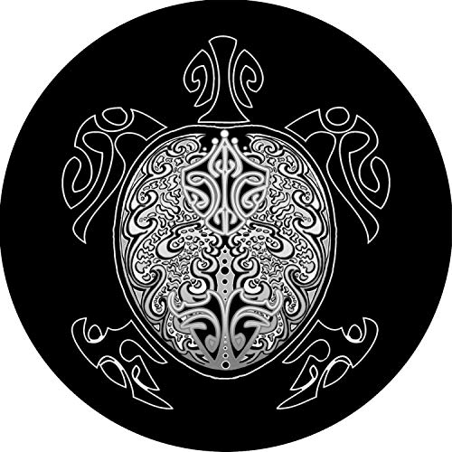 TIRE COVER CENTRAL Turtle White Wheel Spare Tire Cover (Select tire Size/Back up Camera Option in MENU) Sized to Any Make Model 255/70R18