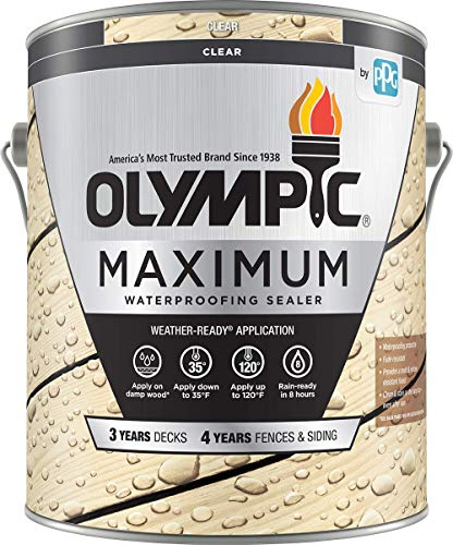 Olympic Stain 56500-1 Maximum Waterproofing Sealant, 1 Gallon, Clear
