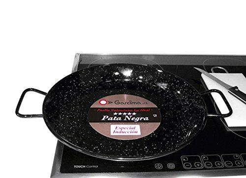 Garcima M282971 - Paellera esmaltada Pata Negra 34 cm
