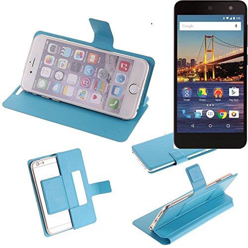 K-S-Trade® Flipcover Für General Mobile 4G Schutz Hülle Schutzhülle Flip Cover Handy Case Smartphone Handyhülle Blau