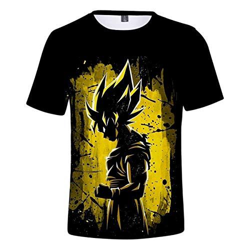 Nikea Unisexo 3D Impresión Anime Camisetas Juego Modelo Camisa Moda Ropa de Calle Cosplay tee Conmemorar Disfraz Suelto Casual Manga Corta Cuello Redondo Verano Hip Hop Tops,3,XXXL