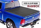 BAK MX4 Hard Folding Truck Bed Tonneau Cover   448227RB   fits 2019 Dodge Ram With Ram Box 5' 7' bed, Premium Matte Finish