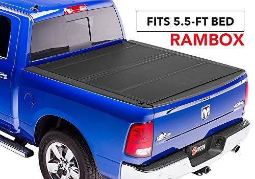 BAK MX4 Hard Folding Truck Bed Tonneau Cover | 448227RB | Fits 2019 Dodge Ram With Ram Box 5' 7' bed, Premium Matte Finish