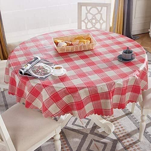 BECCYYLY Mantel Plástico Cubierta de Mesa Redonda Europea Hogar Mantel Redonda 180cm 06, Tamaño: 160cm Mantel de Vidrio Blando (Color : 012, Size : 150cm Round)