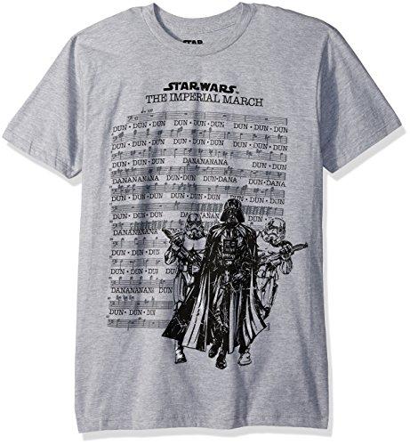Star Wars Men's March Sheet Short Sleeve T-Shirt, Heather, 2XL