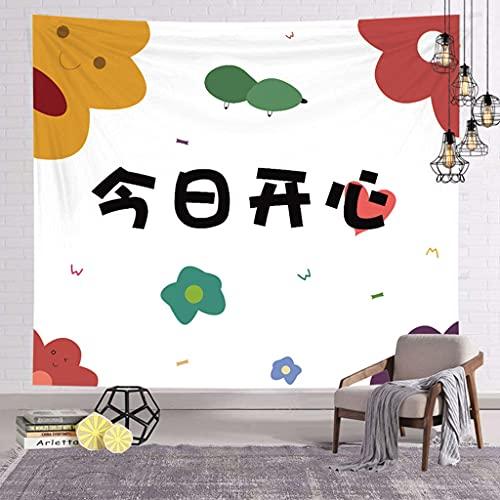 YTLSA Tapiz Tapiz Lienzo Estampado de Dibujos Animados Tela de Fondo Tela Decorativa de Pared Dormitorio Dormitorio mesita de Noche Kawaii Tela Colgante