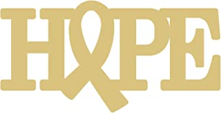 Word Hope Cutout Unfinished Wood Door Hanger Awareness Ribbon Hope MDF Shaped Canvas Style 2