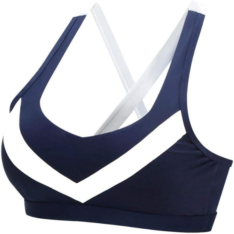 AIYUNDONG Sportbekleidung Yoga Pilates Sport-BHS Unterwsche Damen Running Fitness Stofester, Gepolsterter Sport-BH
