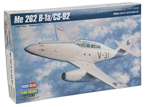 Hobby Boss 080380 – Modèle Kit, en Plastique 1/48 Me 262 B1/CS92