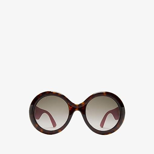 Dark Havana/Pink Glitter Temples/Brown Gradient