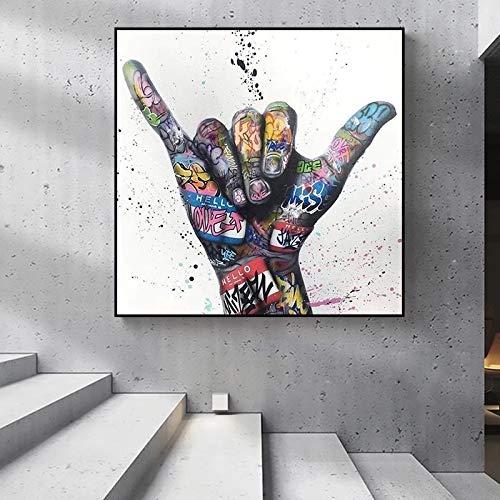 JHGJHK Decoración inspiradora y de la Sala de Estar de la Pintura de la Pintura al óleo del Arte del Graffiti de la Victoria