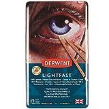 Derwent Lightfast 2302719 - Lápices de colores (12 unidades, calidad profesional)