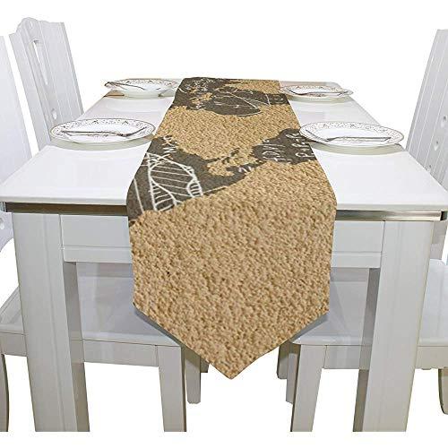 sunnee-shop Art Deco Math Education lange tafelloper rechthoekig tafelblad tafelkleed multi169
