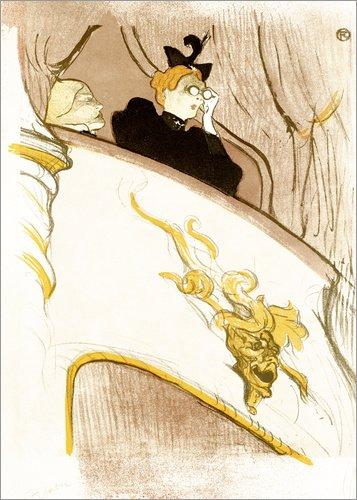 Posterlounge Leinwandbild 70 x 90 cm: Die Loge mit der goldenen Maske von Henri de Toulouse-Lautrec/ARTOTHEK - fertiges Wandbild, Bild auf Keilrahmen, Fertigbild auf echter Leinwand, Leinwanddruck