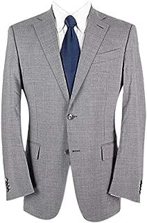 Zegna Su Misura Mila Grey Wool Lined Dual Vents MOP 2Btn Jacket 40R