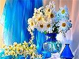 Pintura al óleo por números Flores Pintura a mano DIY para colorear por números Florero de dibujos animados Lienzo Conjunto de pared Arte Decoración para el hogar C19 40x50cm